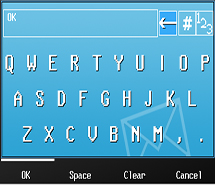 EOBR Keyboard Screen